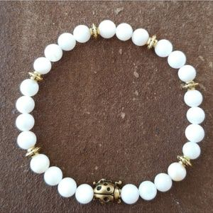 Jewelry - 🎄🎁 White Stone Lady Bug Bracelet